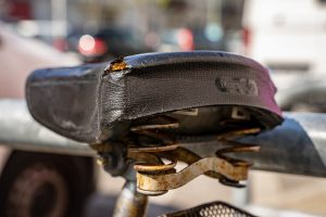 THE MOST RUSTED PARTS OF THE BICYCLE
